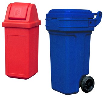 Waste Master Small (Red) and Roller King Small (Blue)