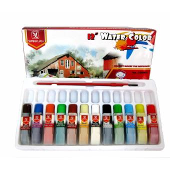 Watercolor 12 x 6ml Colors with brush