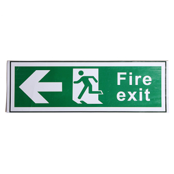 Waterproof Emergency Fire Exit Stickers Decal Sign All Direction Arrow 300x100mm Price Philippines
