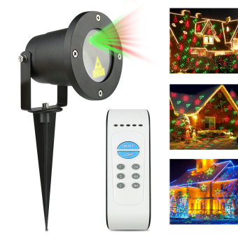 Waterproof LED Laser Garden Light Green Red Lighting Landscape Christmas Xmas Projector Lighting Wireless Remote US Plug