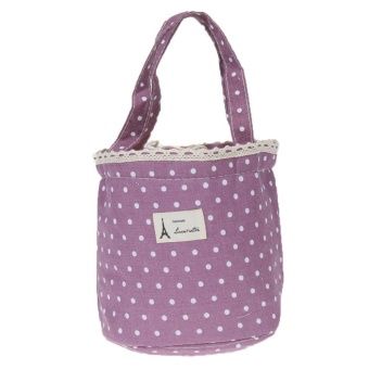 Waterproof Lunch Portable Bag (purple) - intl Price Philippines