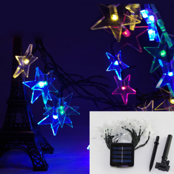 Waterproof Solar Power 20 LED Lights Five-pointed Star ShapeColorama Price Philippines