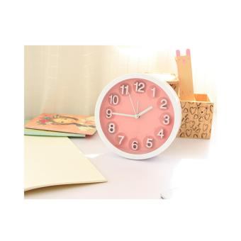 Wawawei Child Home Mini Candy Color Round Face Silicone DigitalAlarm Clock(PINK) - 3