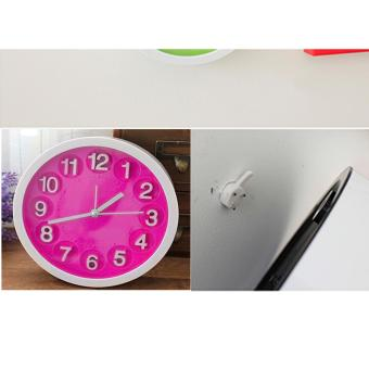 Wawawei Child Home Mini Candy Color Round Face Silicone DigitalAlarm Clock(PINK) - 2