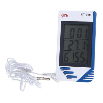 Weather Station 3 in 1 Digital Temperature Humidity Tester Clock Hygrometer Thermometer