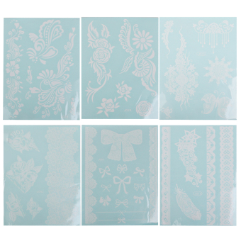 Wedding Bridal Tattoos Temporary Tattoo Stickers 12 Sheets White - picture 2