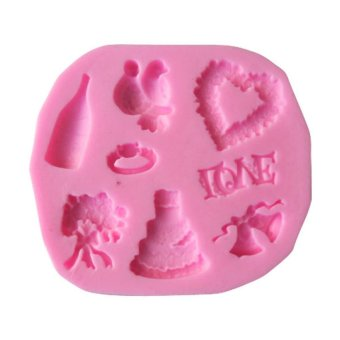Wedding Silicone Mold For Fondant Cake Chocolate Embosser Candy Pastry Mould Price Philippines