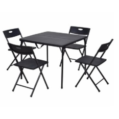 Weext PICNIC TABLE SET WITH FOLDING 4PC CHAIR AND TABLE