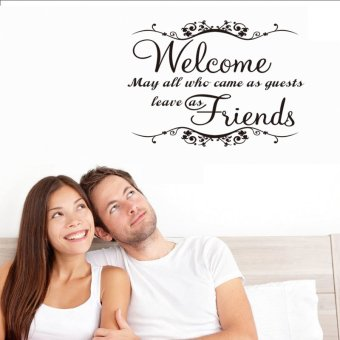Welcome Friends Letters Removable Wall Stickers Art Decor 41cm*57cm