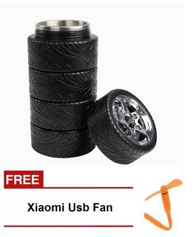 Wheel Style Mug with Free Xiaomi USB Fan (Orange)