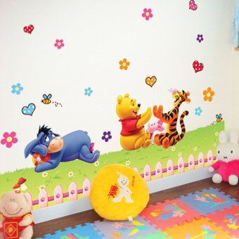 Whinnie the Pooh bear cute self-adhesive bedroom wall stickers wall adhesive paper