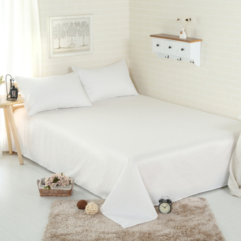 white 100% cotton sheet twin/full/queen/king size,one piece bedsheet/bedsheet mattress cover protective case bed linen bedding