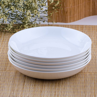 White Bone China rice dish plate