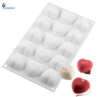 White Silicone 15 Cavity Heart Shape Mousse Cake Mold for ChocolateFondant Candy DIY - intl Price Philippines