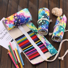 Philippines 48 Hole Canvas Roll up Wrap Pencil Bag Drawing Brush Source · Whyus 48 Holes Galaxy Printed Pencil Case Canvas Wrap School PenBag Storage intl