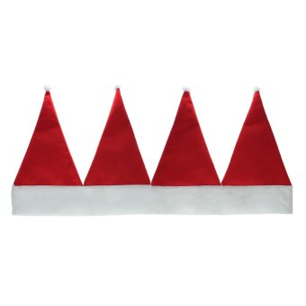 Whyus Christmas Santa Hat Home Festival Party Window Valance Curtain Pennant Decor - INTL - picture 2