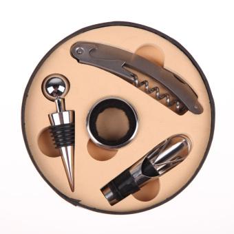 Wine Tool Set Bottle Opener Stopper Drip Ring Wine Pourer