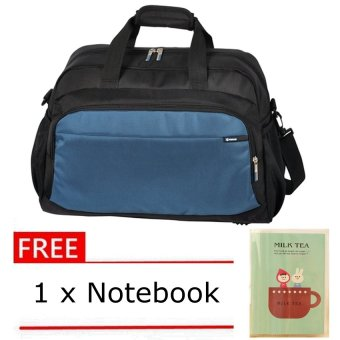 Winpard 4400 Duffle Bag (Black/Lake Blue) With Free Notebook