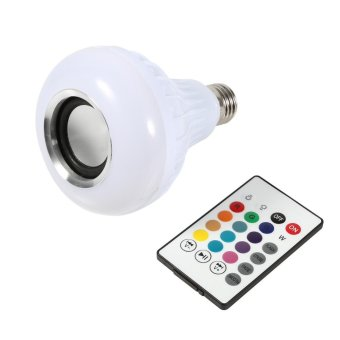 Wireless LED RGB Bluetooth Speaker Bulb With Remote Control - intl