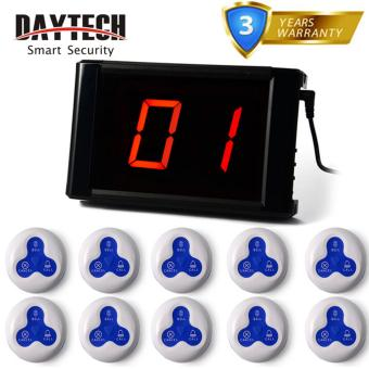 Wireless Paging System Waiter Calling System Restaurant Pager Service Hospital KTV 1 Panel With 10 Pcs Call Button