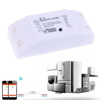 Wireless Wi-Fi Smart Phone APP Remote Control Home Automation LightSwitch (White) - intl - 2