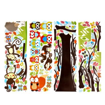 WiseBuy Wall Decals Kids Bedroom Tree Owl Baby Nursery1Stickers ArtRoom Decor Removable