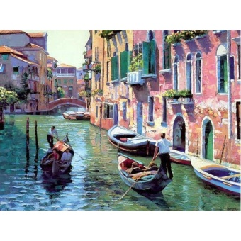 With Frame Venice Seascape DIY Painting By Numbers Modern Wall ArtCanvas Painting Drawing Home Decor 40x50cm Artworks - intl