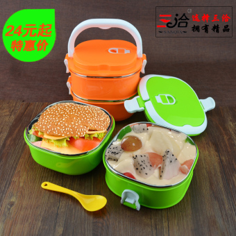 With handle sealed leak-proof lunch boxes insulated container