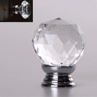 WOND 4pcs/set Crystal Glass Acrylic Door Knobs Drawer Cabinet Furniture  Handle   Intl Philippines