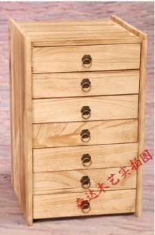 Wooden boxes of Tea solid wood multi-layer tea tray tea gift box