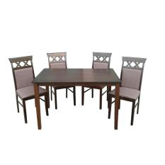BUY NOW Wooden Dining Table And Chairs 4s Cushion Seat CairoB