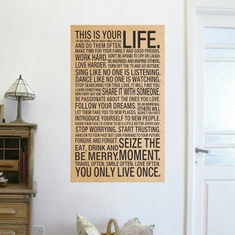 world popular quote This Is Your Life Vintage Poster paintinginspirational words kraft paper wall stickers home office wall art(Intl)