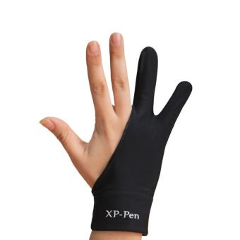 XP-Pen Professional Artist Anti-fouling Lycra Glove for GraphicsDrawing Tablet Graphic Monitor Suitable for Right Hand and LeftHand L size(Black)