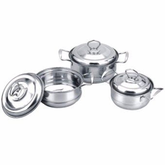 XZY- Quality 6-piece Stainless Steel Cooking Pot Set