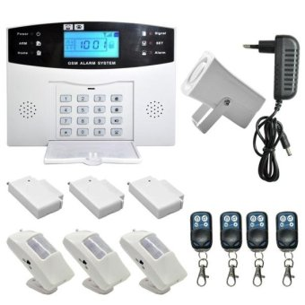 YA-500-GSM-5 Wireless GSM SMS Security Home House Burglar AlarmSystem With LCD Screen - intl Price Philippines
