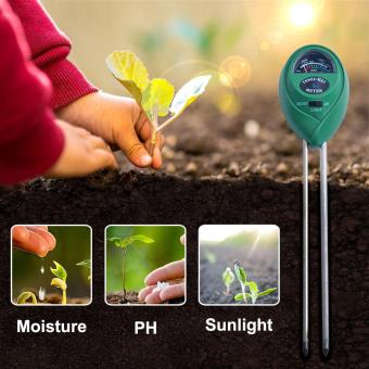 yieryi New 3 in1 Moisture/Light/PH Plant Flowers Soil PH Tester Moisture Light Meter Hydroponics Analyzer soil test kit for garden and agricultural - intl