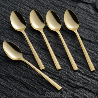 Yoshikawa metal gold plated stainless steel DESSERT spoon PARK'S spoon