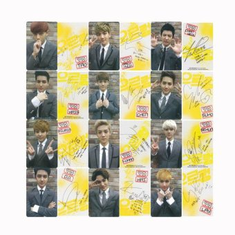 Youpop KPOP EXO GROWL Album Photo Card Self Made Paper CardsAutograph Photocard XK330 - intl