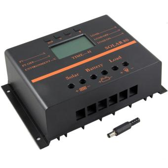 YSMART S80 PWM 80A LCD Display 12V 24V Solar Panel ChargeController With 5V USB for Solar System Home - intl - 2