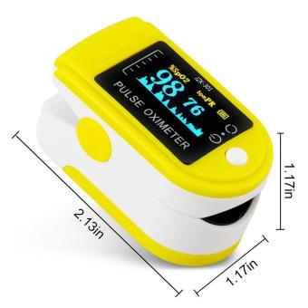 yugos Finger Pulse Oximeter Finger Oxygen Meter With Pulse Rate Monitor, Yellow - 4
