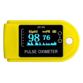 yugos Finger Pulse Oximeter Finger Oxygen Meter With Pulse Rate Monitor, Yellow - 2
