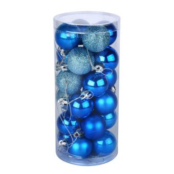 Yuletide Christmas Balls Round Shiny Multi-Texture Christmas DecorSET OF 20 (Medium, 5cm)