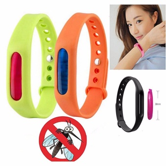 Z - Anti Mosquito Pest Insect Bugs Repellent Wrist Band BraceletWristband Set of 2 (Random Color)
