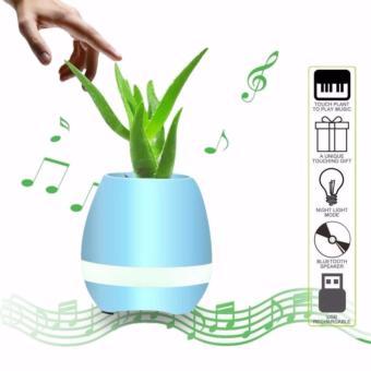 ZH-K3 Flowerpot Sensor Colorful LED Light Bluetooth Speaker (Blue) - 2