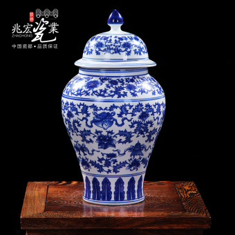 Zhao Wang Tao porcelain blue and white porcelain storage jar