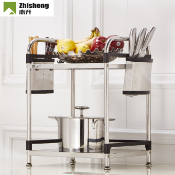 Zhisheng stainless steel kitchen table shelf