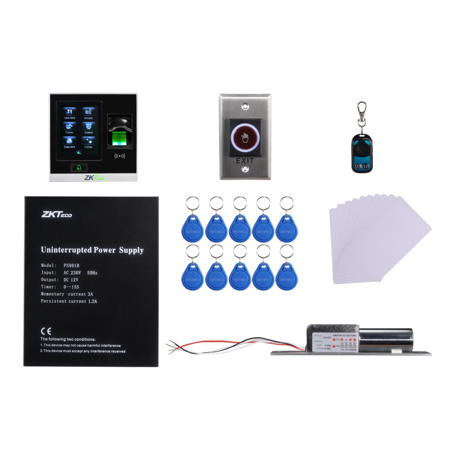 ZKTeco TCP/IP SF400 Biometric Access Control Kit Fingerprint