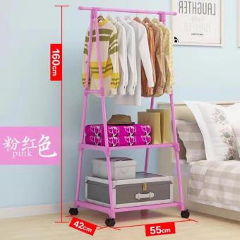 ZMB Multifunctional Garment Laundry Rack with 2-tier Shoe ClothesStorage Shelves (color may vary)