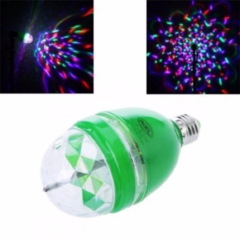 Zover 3W E27 RGB LED DJ Light Bulb Rotating Lamp (Green)