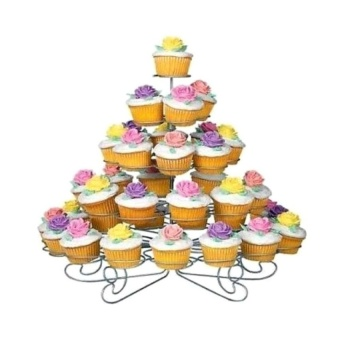 Zover 5-Layer Easy Assemble Cupcake Stand Serves Up To 13 TreatsIdeal for Parties and Birthday
